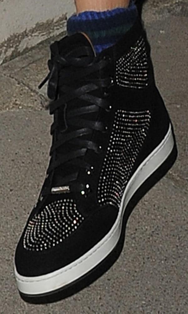 Cara Delevingne rocks Jimmy Choo Tokyo studded sneakers
