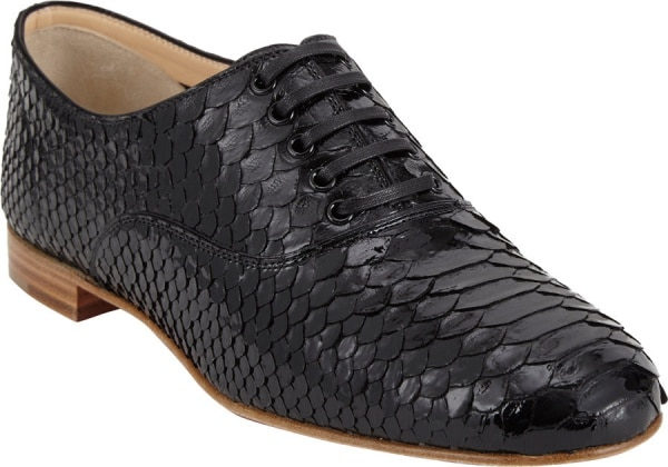 """Christian Louboutin """"Fred"""" Brogues in Black Python"""