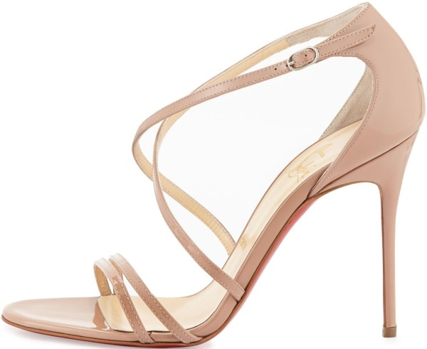 "Christian Louboutin ""Gwynitta"" Sandals in Nude"