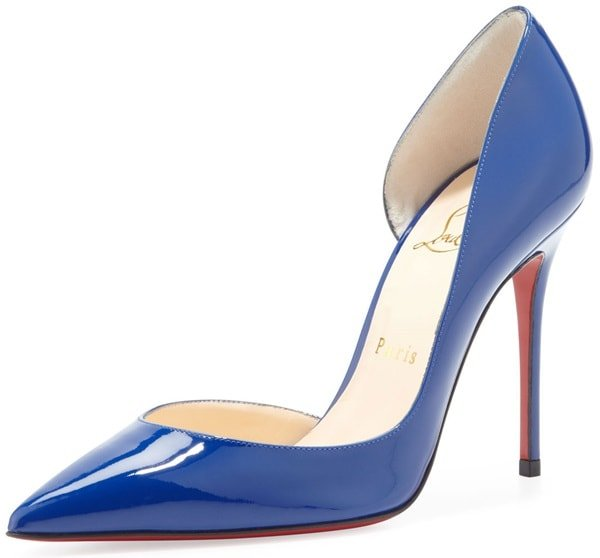 "Christian Louboutin ""Iriza"" D'Orsay Pumps in Neptune"