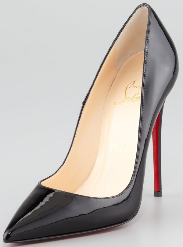 """Christian Louboutin """"So Kate"""" Pumps in Black Patent"""