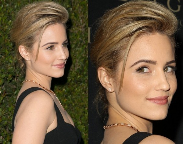 The gorgeous star swept her hair up and styled it in a messy bun to draw attention to her beautiful Bulgari jewels