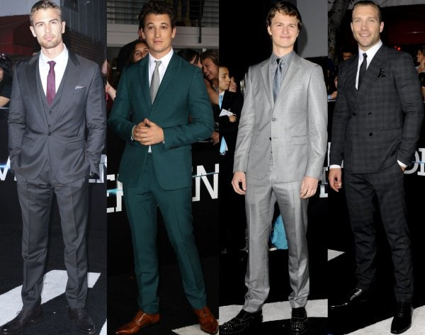The rest of the male cast of 'Divergent' at the film premiere