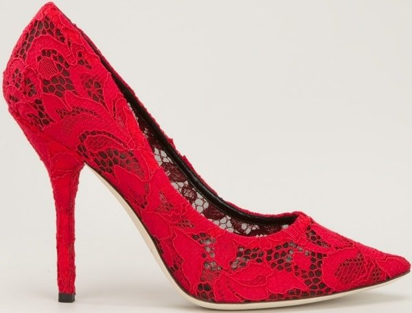 Dolce & Gabbana Floral Embroidered Pumps
