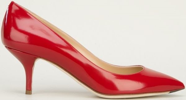 Dolce & Gabbana Pointed-Toe Pumps in Red