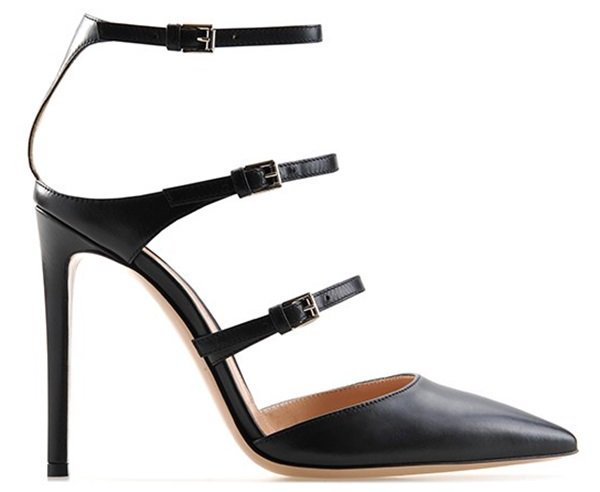 Gianvito Rossi heels with three buckled straps