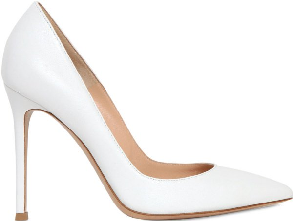 Gianvito Rossi Leather Pumps in White
