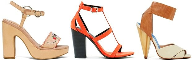 We prefer heeled sandals that are dressier and offer more chic appeal