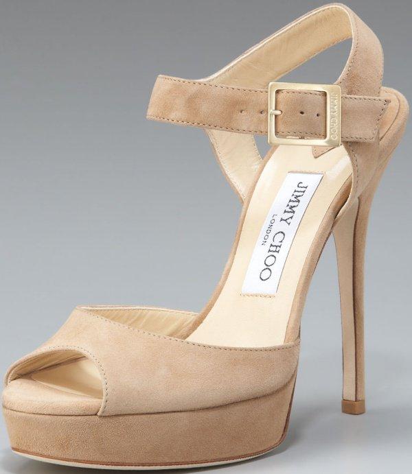 """Jimmy Choo """"Linda"""" Sandals in Nude"""