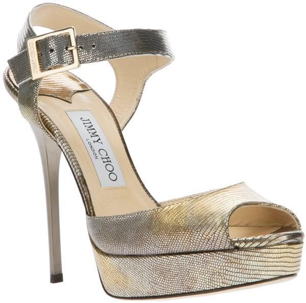 "Jimmy Choo ""Linda"" Sandals in Silver"