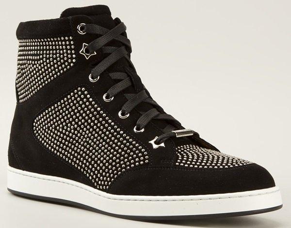 Jimmy Choo Tokyo Studded Hi-Top Sneakers