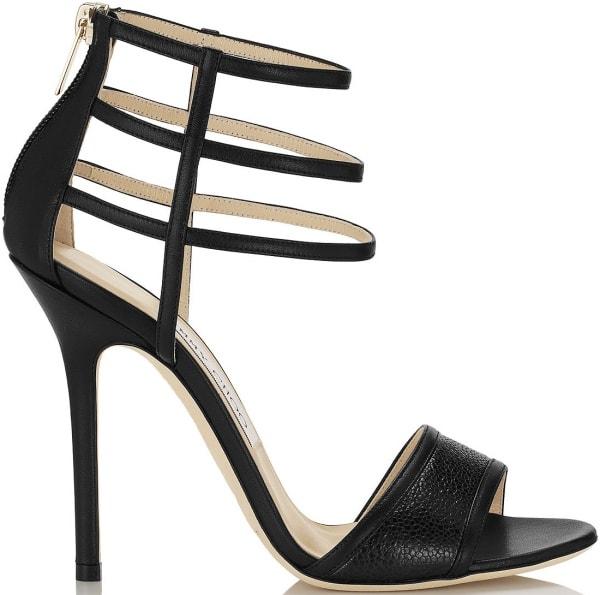 """Jimmy Choo """"Tolka"""" Sandals in Black Nappa Leather"""