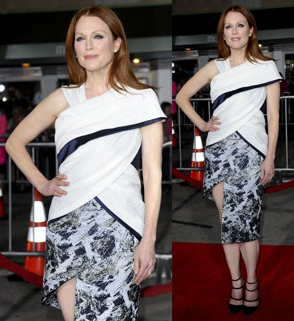 Julianne Moore at the premiere of her latest film, 'Non-Stop', in Los Angeles, California, on February 25, 2014