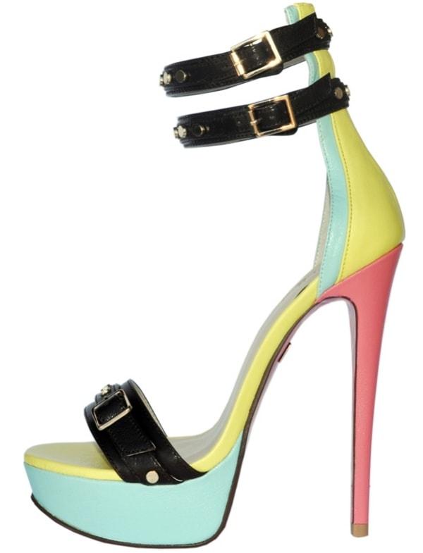 Tri-Tone 'Amika' Sandals