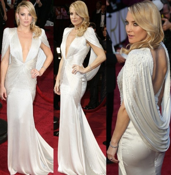 Kate Hudson in a perfectly elegant and dramatic gown from Atelier Versace's Spring 2014 collection