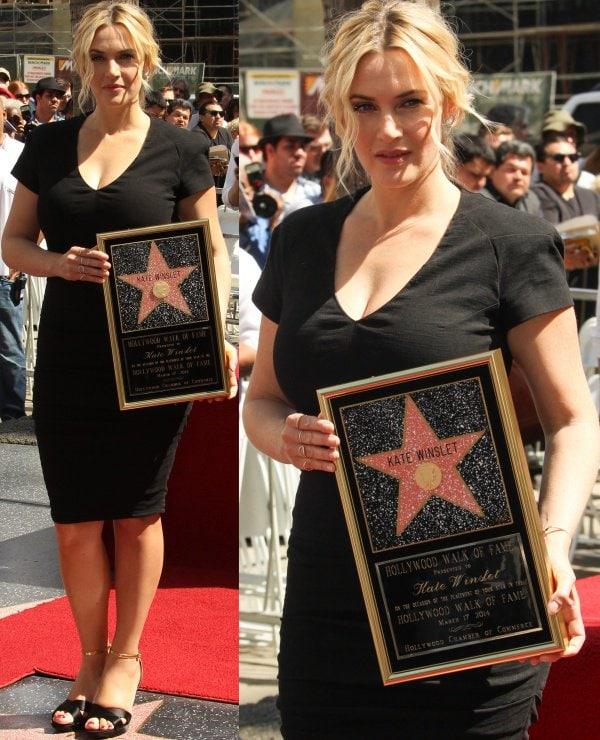 Kate Winslet wore white diamond jewels from Ana Khouri