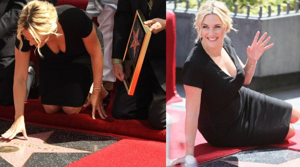 Kate Winslet looking radiant at the unveiling of her star on the Hollywood Walk of Fame