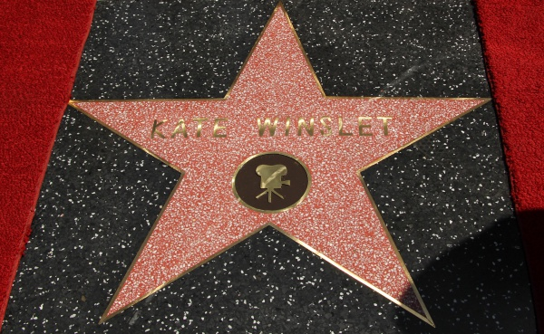 Kate Winslet was the recipient of the 2,520th star