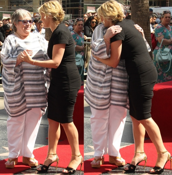 Kathy Bates and Kate Winslet