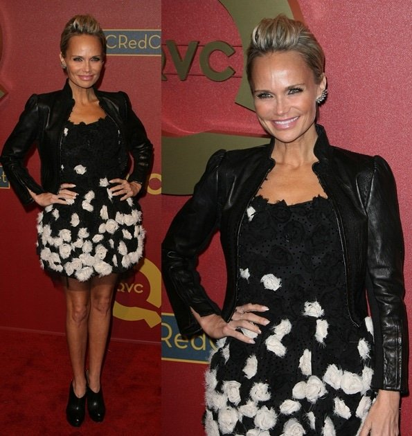 Kristin Chenoweth wearing a frou-frou rosette-detailed dress