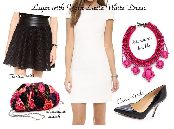 layer white dress olivia palermo style dior paris fashion week