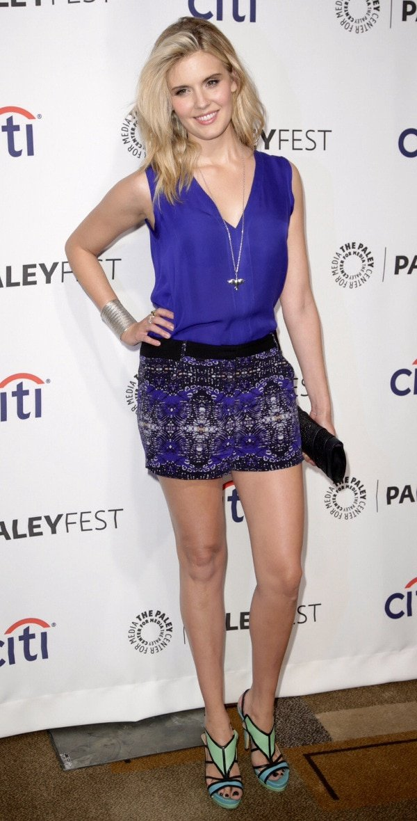 Maggie Grace's incredible legs at the 10th Anniversary Reunion of Lost