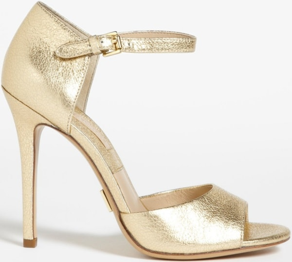 "Michael Kors ""Malia"" Sandals in Pale Gold"