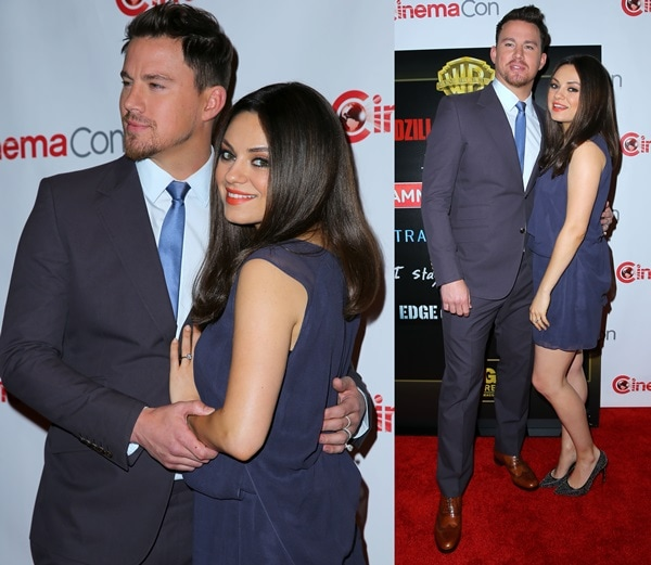 Mila Kunis with Channing Tatum at CinemaCon 2014 at Caesar's Palace Resort and Casino