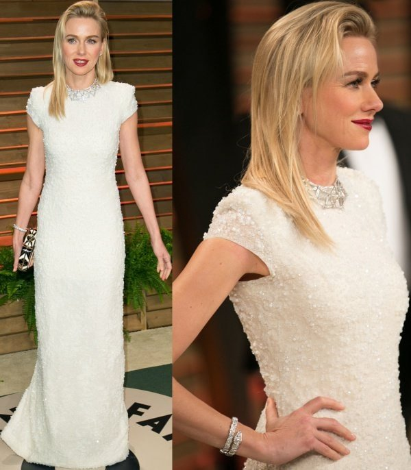 Naomi Watts's custom gown from Calvin Klein was so unbelievably beautiful