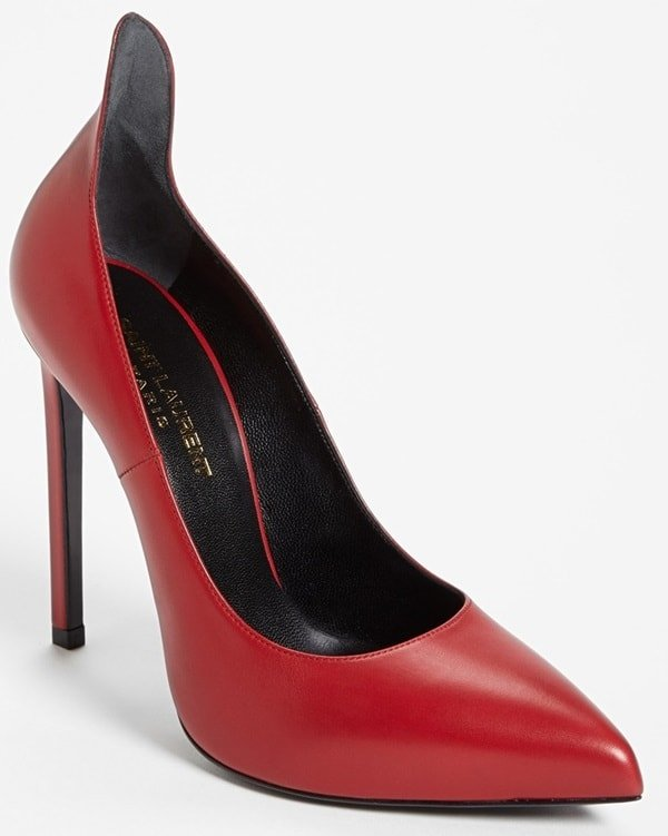 "Saint Laurent Paris Escarpin ""Thorn"" Pumps in Red"