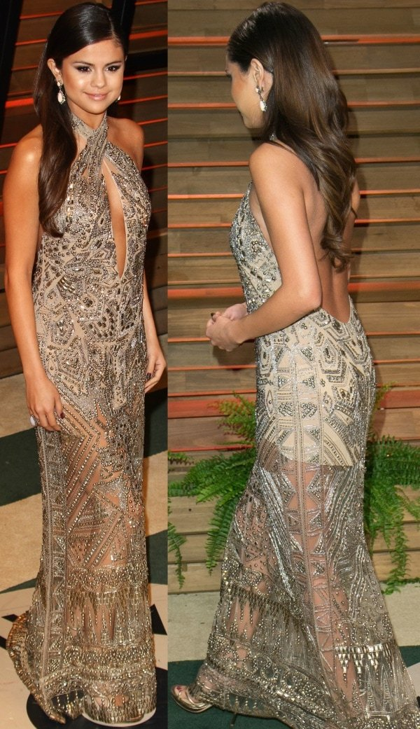 Selena Gomez turned heads in a sexy gown from Emilio Pucci's Fall 2014 collection