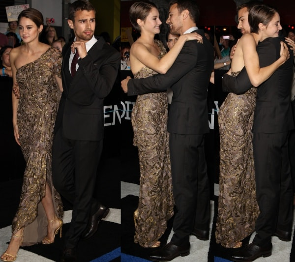 Shailene Woodley with Theo James