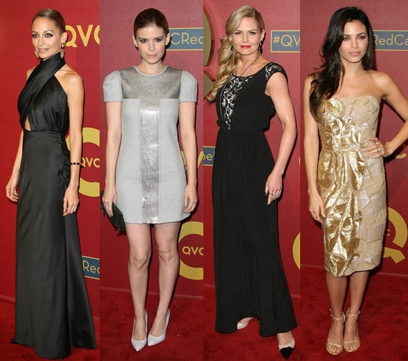 Nicole Richie, Kate Mara, Jennifer Morrison, and Jenna Dewan Tatum at the 2014 QVC Pre-Oscar Party held at the Four Seasons Hotel in Los Angeles on February 28, 2014