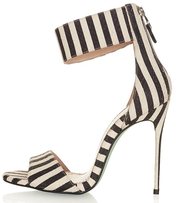 topshop malibu striped sandals
