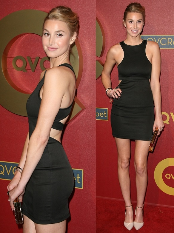 Actress Whitney Port flaunts her sexy legs at the QVC 5th Annual Red Carpet Style event