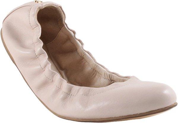 Yosi Samra Mirah Alsina Leather Flats in Misty Rose