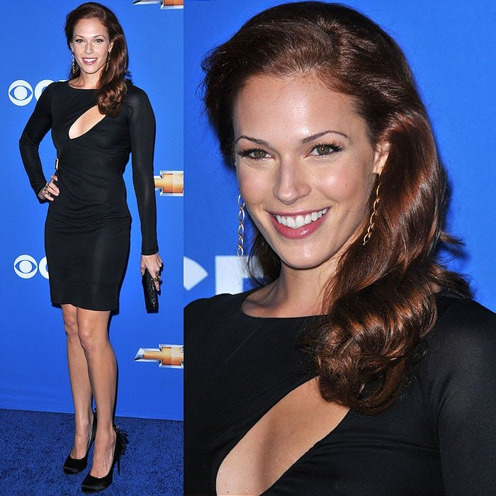 Amanda Righetti at the 2010 CBS fall launch premiere party held at the Colony club in Hollywood, California, on September 16, 2010