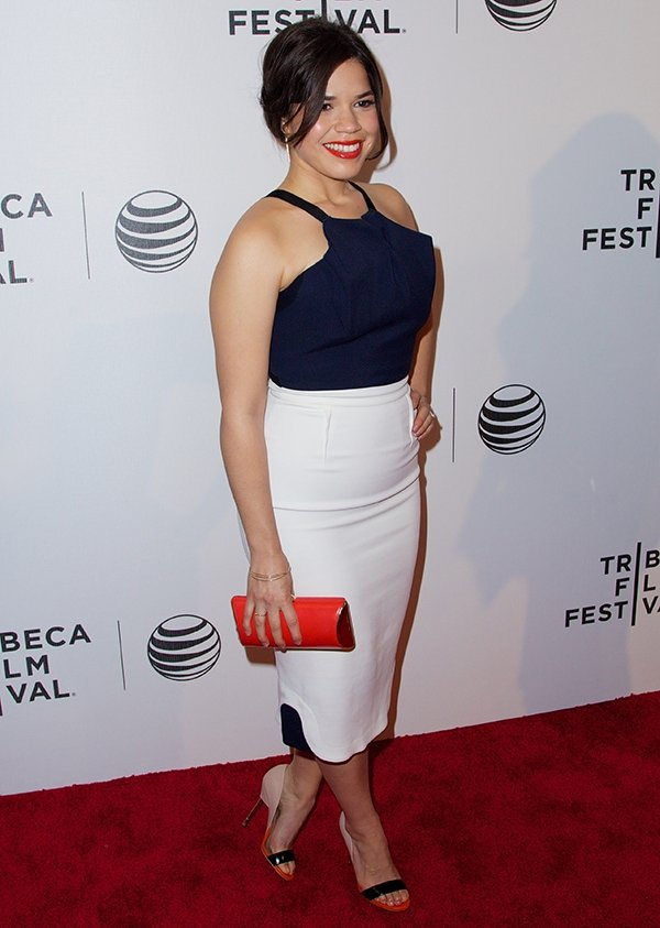 America Ferrera at the world premiere of Ryan Piers Williams' drama X/Y during the 2014 Tribeca Film Festival