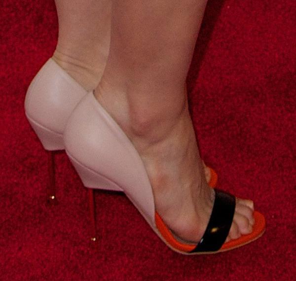 America Ferrera wearing Kurt Geigertriple color pumps