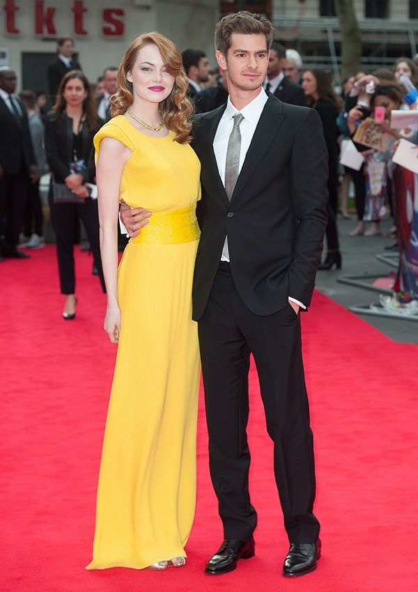 Emma Stone and Andrew Garfield at the world premiere of 'The Amazing Spider-Man 2'