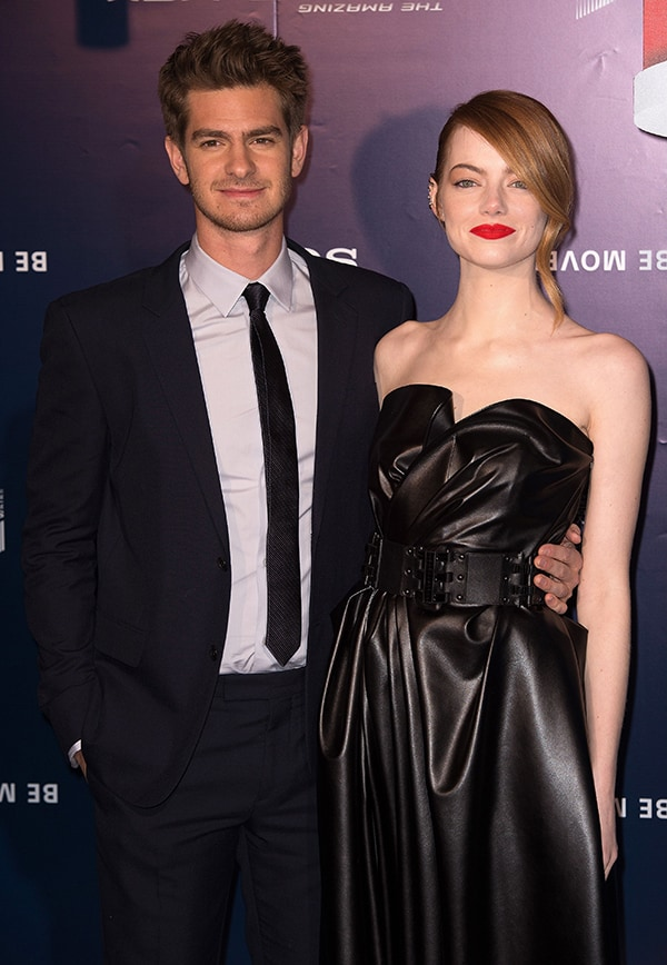 Andrew Garfield andEmma Stone at the Paris premiere of 'The Amazing Spider-Man 2'