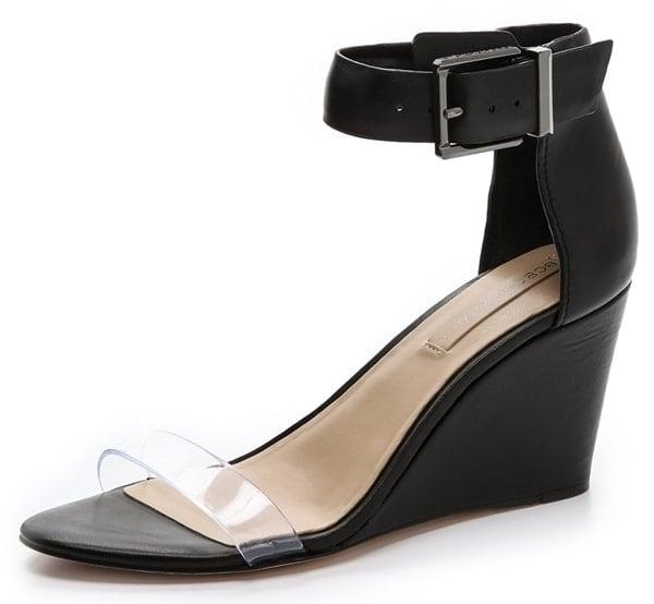 BCBG Max Azria Latch Wedge Sandals