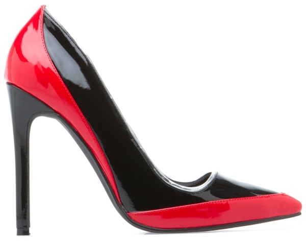Beau-Ashe 'Maira' Pumps in Red and Black
