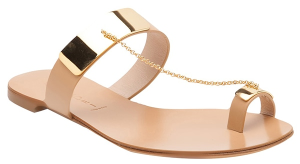Casadei Gold Plated Sandals Beige