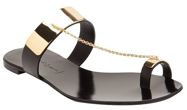 Casadei Gold Plated Sandals Black