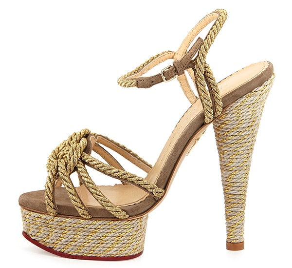Charlotte Olympia Tangled Rope Platform Sandals