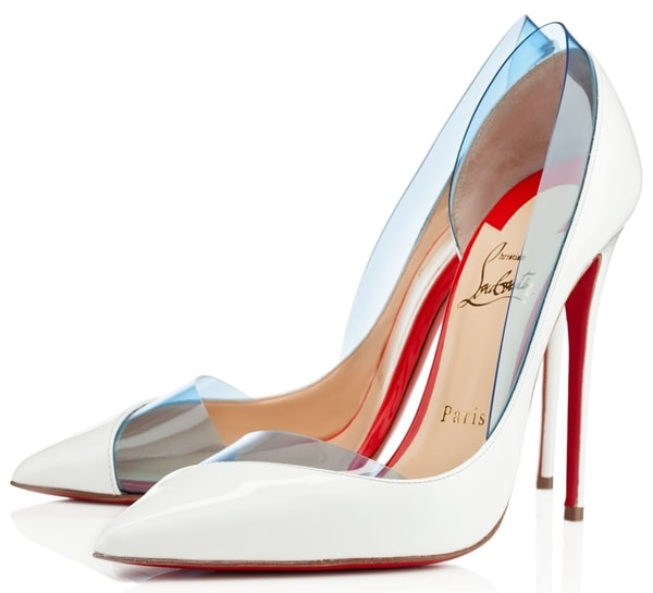 Christian Louboutin Miss Rigidaine Pumps in White