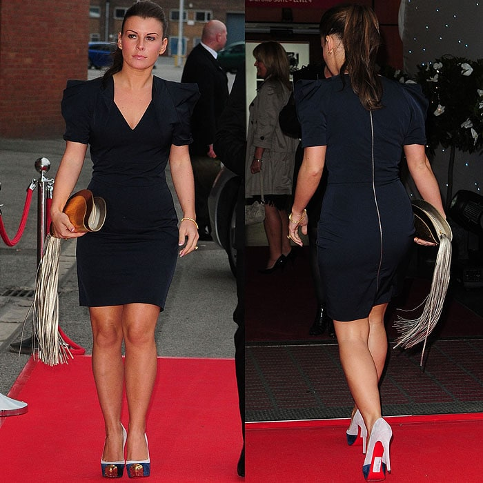 Coleen Rooney at the Manchester United Player of the Year Awards held at Old Trafford in Manchester, England, on May 4, 2010