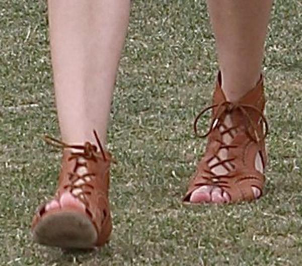 Diane Kruger wearing Joie Toledo sandals