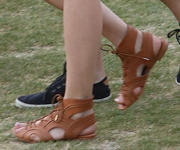 "Diane Kruger wearing Joie ""Toledo"" sandals"